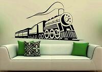 Train Steam Locomotive Bedroom Decorative Vinyl Wall Sticker Decal Murals XXL