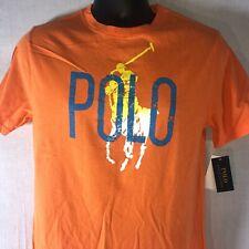 NWT Polo Ralph Lauren Big Pony Polo T-Shirt Boy's Size Large 14-16 Orange Tee