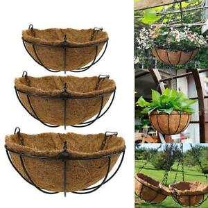 10inch Hanging Planter Basket With 3 Leg Chains Set Hanging Wire Baskets Holders