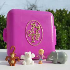 Polly Pocket Mini Figuren Wild Zoo World 100% Komplett mit Eisbär Bluebird 1989