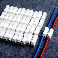 30x Electrical Car Cable Connectors Wire Terminals Quick Splice Self Locking 3W