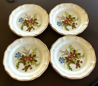 Mikasa Garden Club, Basket of Wildflowers Salad Plates, EC 403, Set of 4, 8 Inch