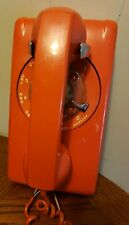 Vintage 1970'S Stromberg Carlson Orange Rotary Dial Wall Telephone