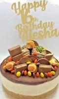 Custom Cake Topper Glitter Any word Any name personalised customised birthday