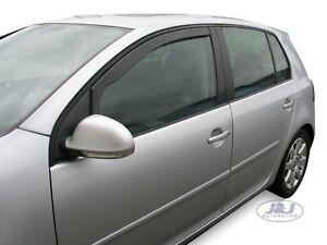 Front wind deflectors  for VW Golf MK5 5 DOOR  2004-2008  2pc TINTED HEKO