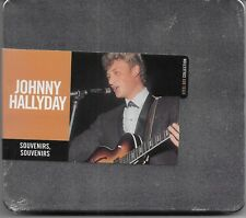 JOHNNY HALLYDAY ALBUM 1 CD BOITIER METAL**SOUVENIRS,SOUVENIRS**NEUF SOUS BLISTER