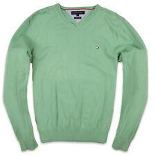 Tommy Hilfiger Herren V-Neck Pullover Sweater Gr.XL (wie L) Grün, 72548