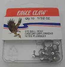 Eagle Claw Black 1/32 oz Jigheads 10Ct 6730
