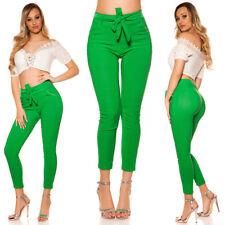 Treggings-pantalones con cinturón verde talla 34-38/s/m