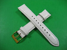 SWATCH GENUINE LEATHER STRAP LADIESS WATCH 18 MM LUG 7.00 INCHES G/P BUCKLE
