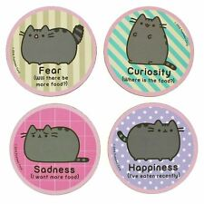 Official Retro Style Pusheen the Cat Emotions Coaster Set