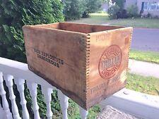 "Antique Explosives Wooden Box ""Trojan Powder Co. Allentown Pa.adv.All 4 sides"