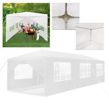 Weiß Garten Partyzelt Faltpavillon 3x9m Pavillon Klappzelt Marktstand Festzelt