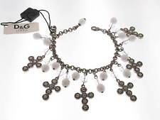 D&G bracciale Romantic acciaio brunito con pendenti croci e sfere DJ0253 new