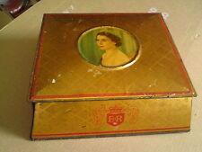 VINTAGE da collezione MC. vitie & prezzo Ltd. INCORONAZIONE Souvenir TIN BOX - 1953