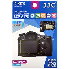 2x Film Protection Ecran LCD Visière H3 pour Appareil Photo Sony SLT-A77 II