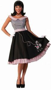 50er Jahre Damen Kostüm - Rock'n'Roll Babe mit Pudel - Fifties 50's Grease