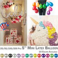 "10-200 PK Air Quality Mini Round Balloons Latex 5"" inch Wedding Birthday Party"