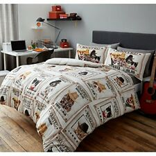 Wanted Poster Animal Cowboy Mugshot Cats Dogs Cute Kids Student Teen Young Double Duvet Cover 2 Pillowcase Bedding Quilt Set