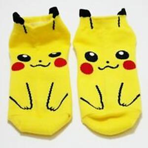 1 Pairs Pikachu Character Cute Socks Women Men Kids Casual Cartoon Gift
