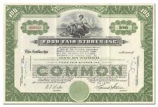 Food Fair Stores, Inc. Stock Certificate