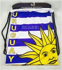 Uruguay Flag Polyester Drawstring BackSack