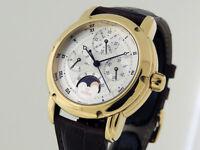 Gevril Perpetual Calendar MoonPhase 18k Gold Rare Prototype 39mm $19,500 LNIB