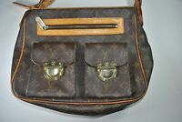 LOUIS VUITTON HUDSON MONOGRAM CANVAS LEATHER SHOULDER BAG SP0031