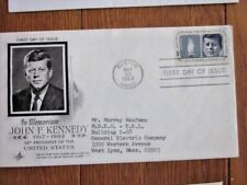 JFK JOHN F KENNEDY MEMORIAL CACHET ADDRESSED TO GENERAL ELECTRIC EXEC FDC 1964
