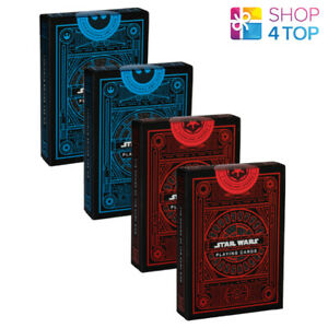 4 DECKS STAR WARS PLAYING CARDS THEORY 11 MAGIC POKER TRICKS RED BLUE DECK NEW