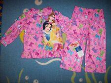 Disney Princess Pajamas Sleepwear 2pc Set Top Bottoms Size 2T Bows Hearts NWT