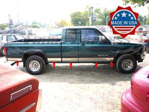 "fit:1987-1996 Dodge Dakota Extended Cab Rocker Panel Trim Body Side 5"" 10Pc"