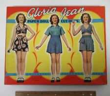 Vintage (1941) GLORIA JEAN Paper Doll Cut-Outs Saalfield Box Set Universal y4387