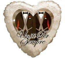 Palloncino Matrimonio Gay  in Mylar Cuore Uomini  46 cm PS 05099