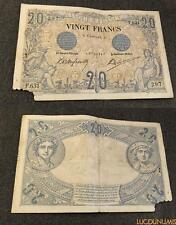 20 Francs Noir Type 1873 – 8/8/1904 F.631 B + Très RARE