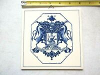 Delft Holland Tile Handmade, Society of Apothecaries