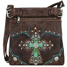 Western Rhinestone Cross Body Handbags Concealed Carry Purse Women Shoulder Bag
