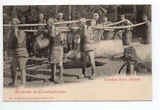TURQUIE CONSTANTINOPLE Souvenir de ... PORTEFAIX Turcs ( Hamals )