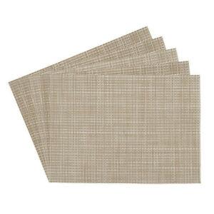 Longport Woven 100% Vinyl Rectangular Placemats Set of Four Benson Mills 14 inch