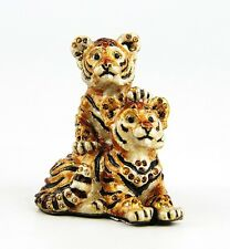 JAY STRONGWATER JUNGLE TIGER CUBS THEO & MAX FIGURINE SWAROVSKI NEW MADE IN USA