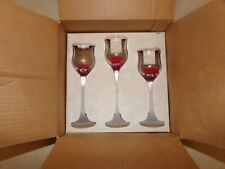 Partylite Iced Crystal Trio Candle Holders