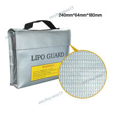 Large Fire Resistant Bag LiPo Battery Safe Charging Storage Sack Fireproof Guard