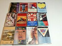 Lot of 12 Cassettes Who INXS Supertramp Meat Loaf Cars Monkees David Wilcox Etc.