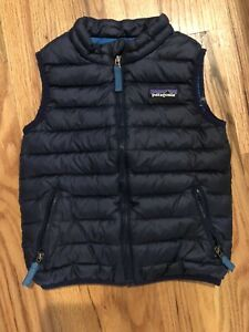Patagonia Toddler Baby Down Sweater Vest size 3T Navy Blue
