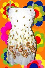 309✪ Flower-Power Minikleid Babydoll Prilblumen Hängerchen 70er Jahre Hippie