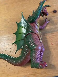 Rare Vintage articulated hollow plastic Godzilla monster figure