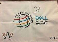 Dustin Johnson #1 Player in the world Autographed Dell Match Play Flag 2017