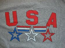 Polyester USA Athletic Faded Glory Workout Grey T Shirt Men's Size XL