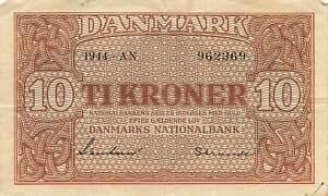 Denmark 10 Kroner 1944 P-36a