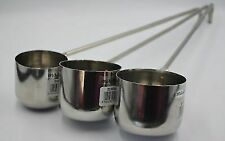 NEW SET OF 3 LADLE TEA SOUP GRAVY WINE EXTRA LONG HANDLE HOOK SERVING STAINLESS